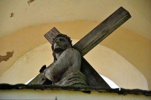 Jesus - crucified, humiliated, abandoned, yet still offered praise to God