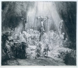 Rembrandt The Three Crosses