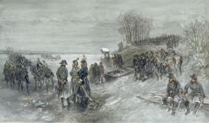 Charles_Rochussen_-_Franse_troepen_trekken_over_een_bevroren_rivier