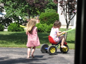 Trying to steal the trike