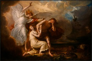 adam and eve by benjamin west