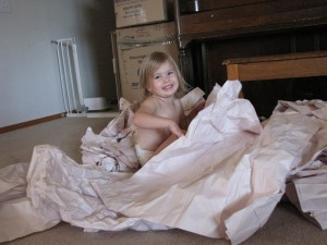 Swimming in Packing Paper
