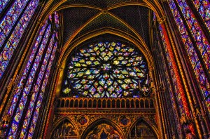 Notre Dame rose window inside