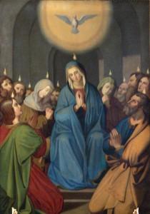 Holy Spirit Merazhofen_Pfarrkirche_Josephsaltar_Altarblatt_Pfingstwunder