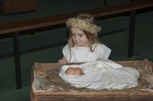 Natalie by the manger no papers