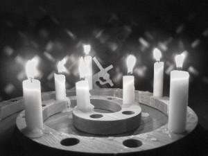 Candles B&W